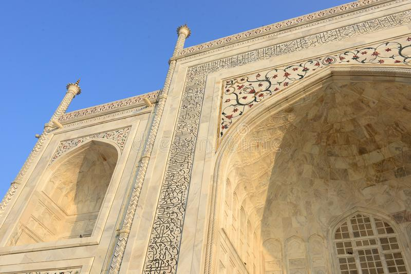 Taj Mahal en Agra, la India foto de archivo libre de regalías