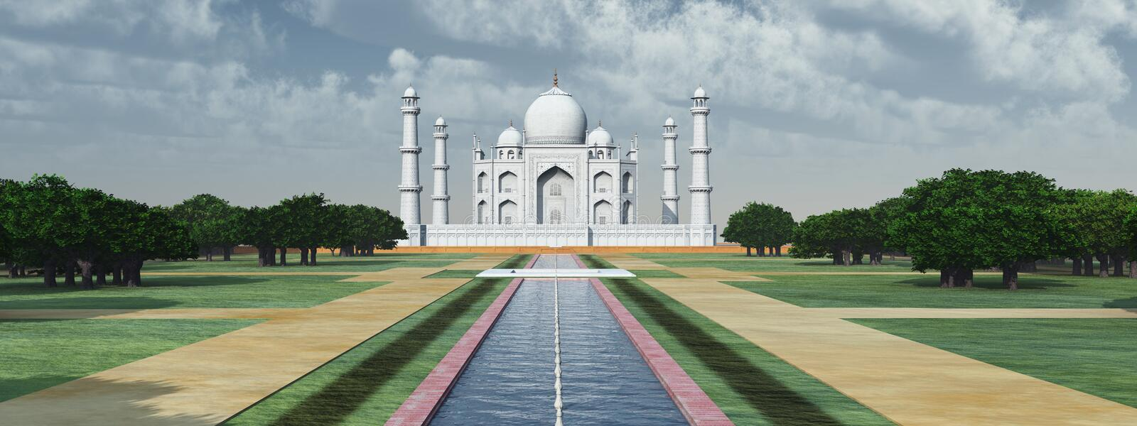 Taj Mahal en Inde illustration stock