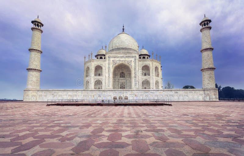 Taj Mahal en la India foto de archivo