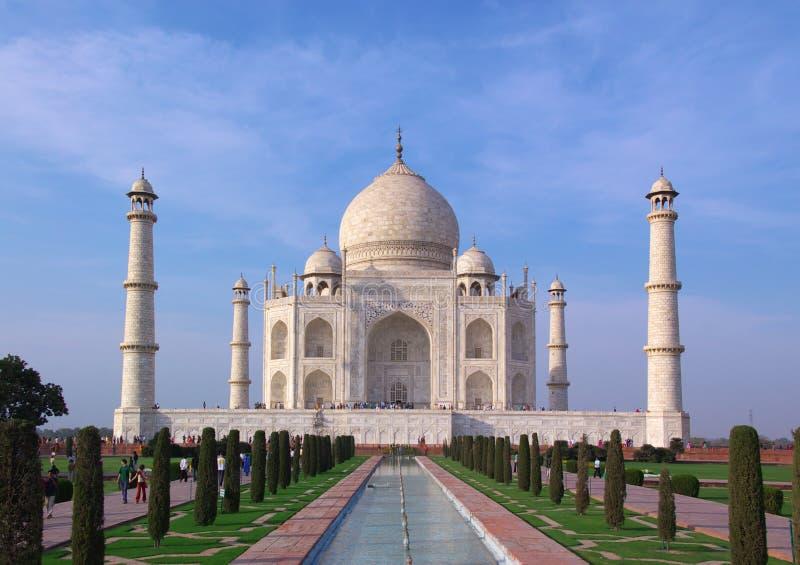 Taj mahal en lumière de soirée photographie stock