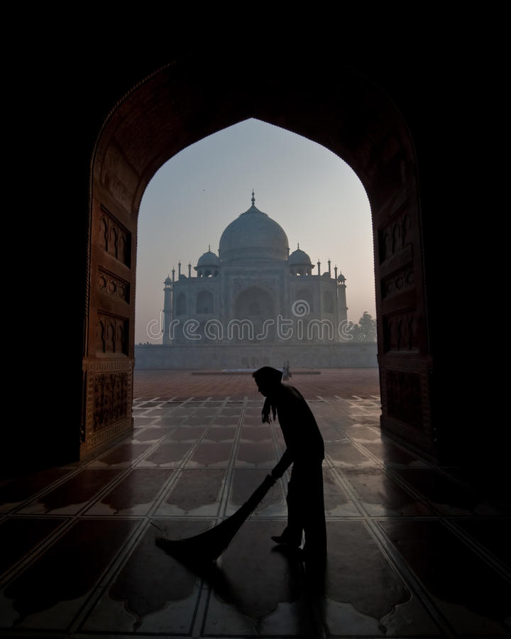 Taj Mahal encadré par une trappe photo stock