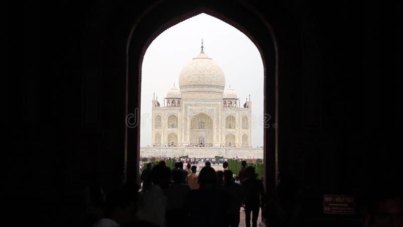 Taj Mahal enmarcado almacen de video