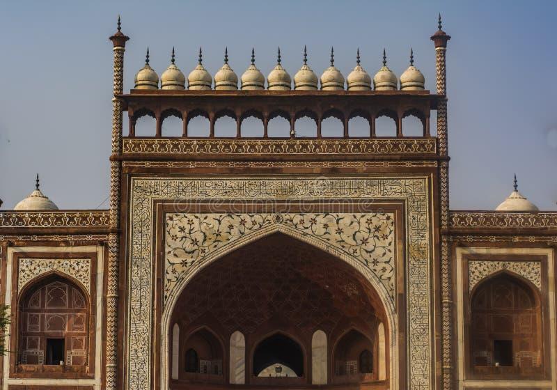 Taj Mahal Entrance View royalty-vrije stock afbeeldingen