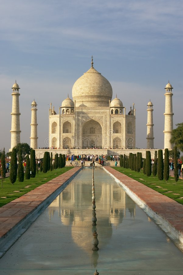 Taj mahal in evening light royalty free stock photography