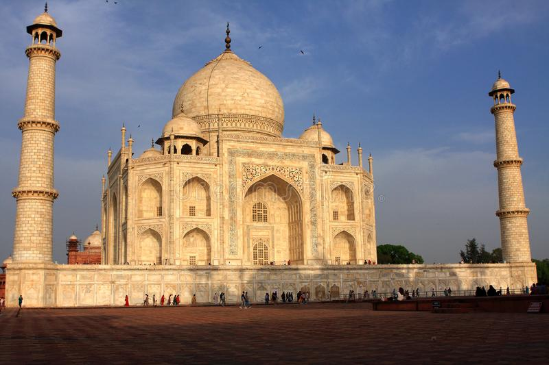 Taj Mahal In Evening Light, Agra, Uttar Pradesh, Indien stockbild