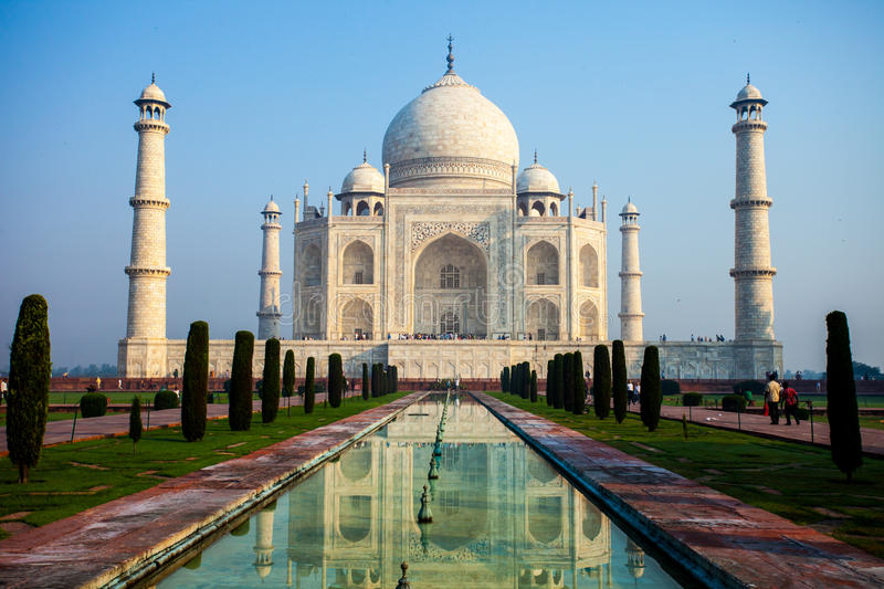 Taj mahal , A famous historical monument, A monument of love, the Greatest White marble tomb in India, Agra, Uttar Pradesh.  royalty free stock photography