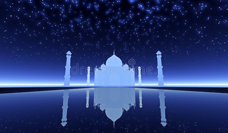 Taj Mahal-fantasie stock fotografie