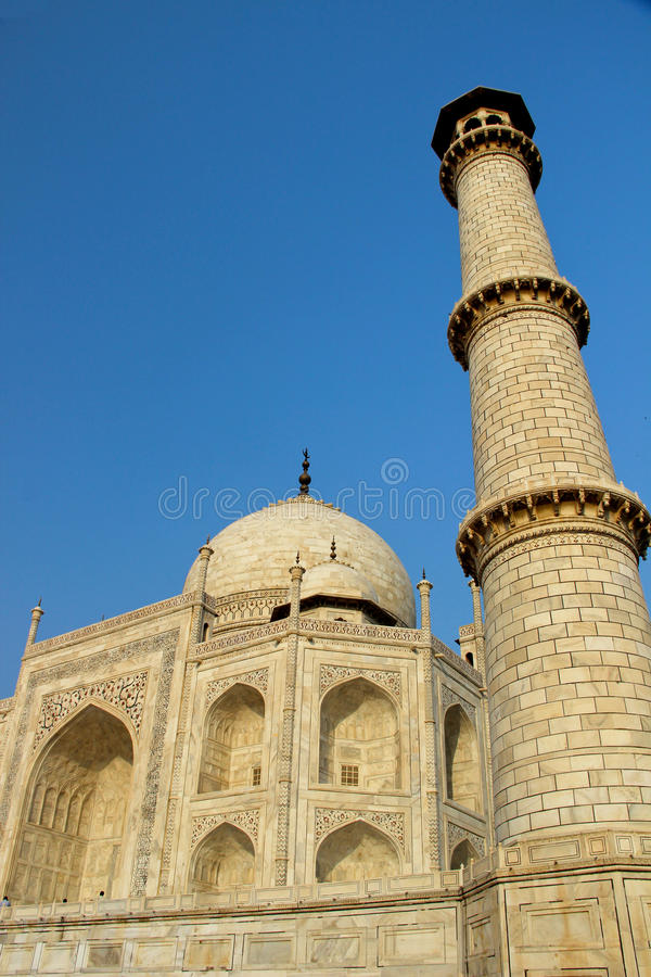 Taj Mahal, fine di Agra, India su immagini stock libere da diritti