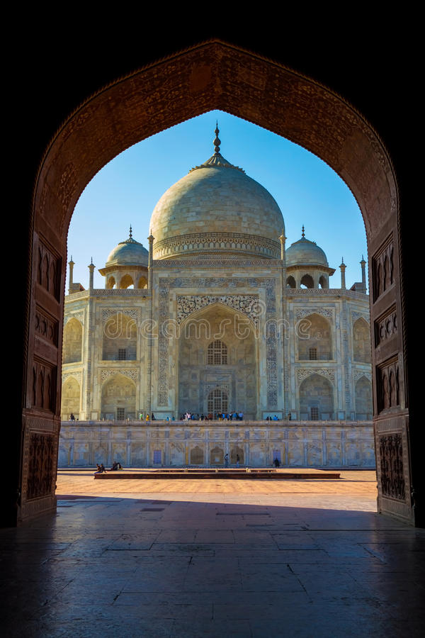 Download Taj Mahal Framed In Arch, Agra, India Stock Image - Image of asian, arabia: 39502001