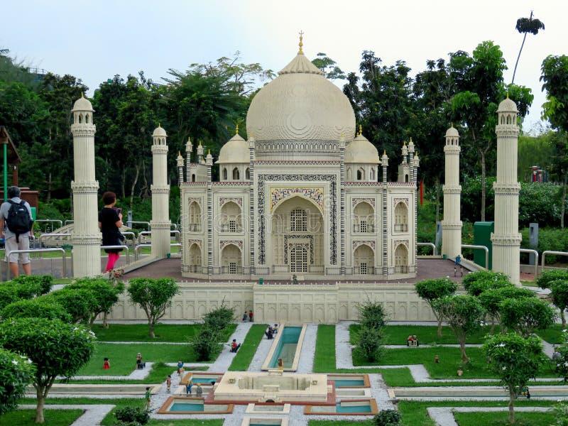 Taj Mahal, Freizeitpark Legoland Miniland, Malaysia lizenzfreies stockfoto