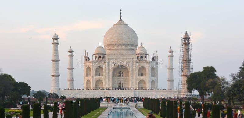 Taj Mahal Front View Agra, Inde photographie stock libre de droits