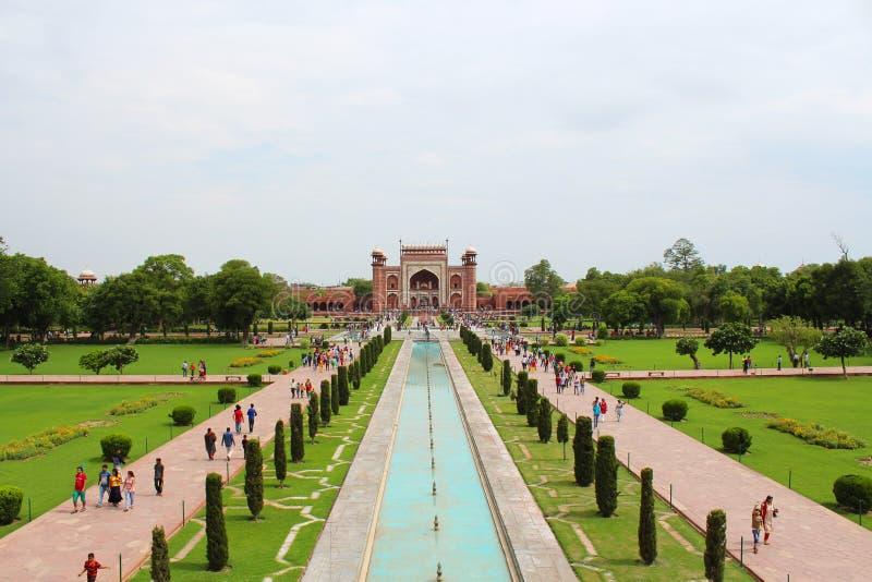 Taj mahal gate royalty free stock images