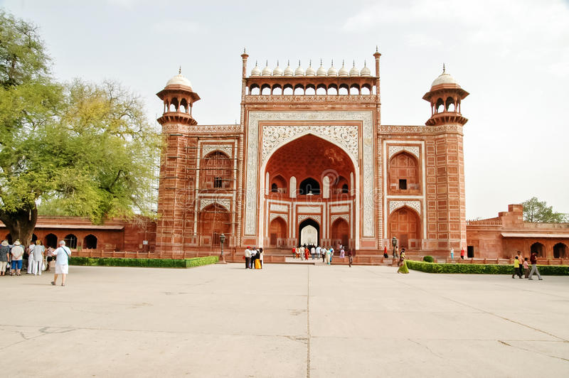 Taj Mahal gateway in Agra, India royalty free stock image