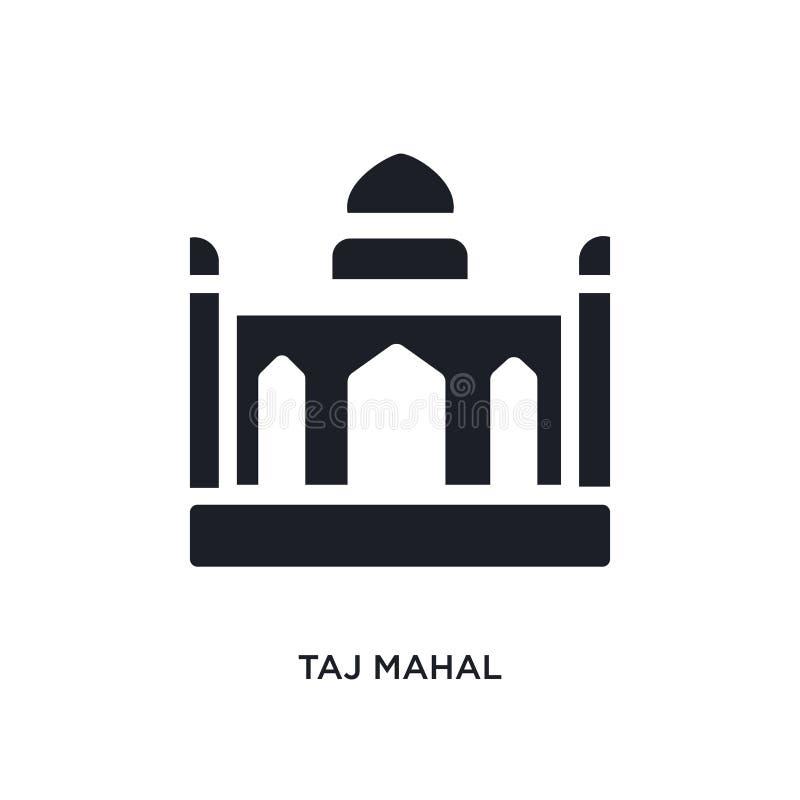 taj mahal geïsoleerd pictogram eenvoudige elementenillustratie van het conceptenpictogrammen van India en van holi taj mahal edit stock illustratie