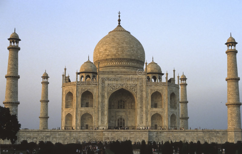 Taj Mahal glowing at dawn royalty free stock images