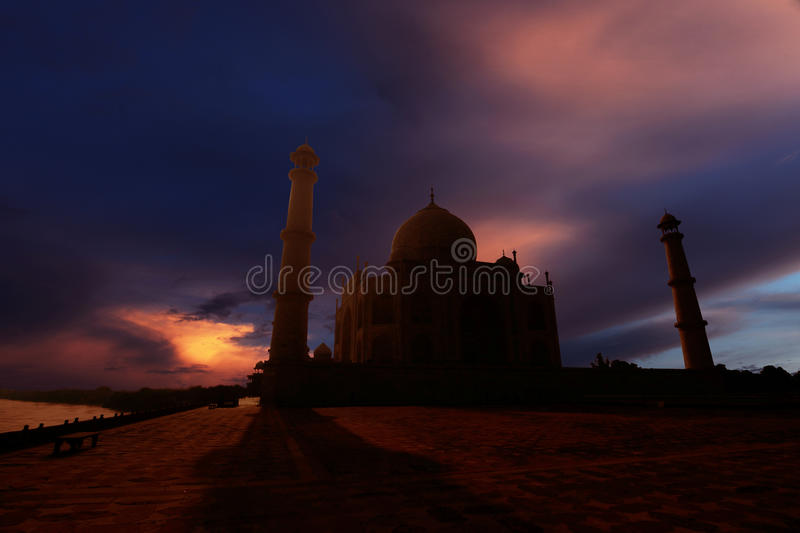 The Taj Mahal. Great Taj mahal during the sunset royalty free stock photos