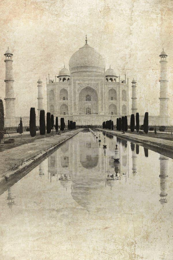 Taj Mahal i Agra, Indien royaltyfri illustrationer
