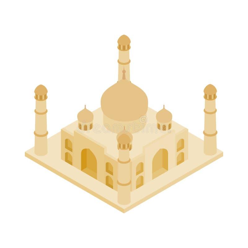 Taj Mahal i den Indien symbolen, isometrisk stil 3d royaltyfri illustrationer
