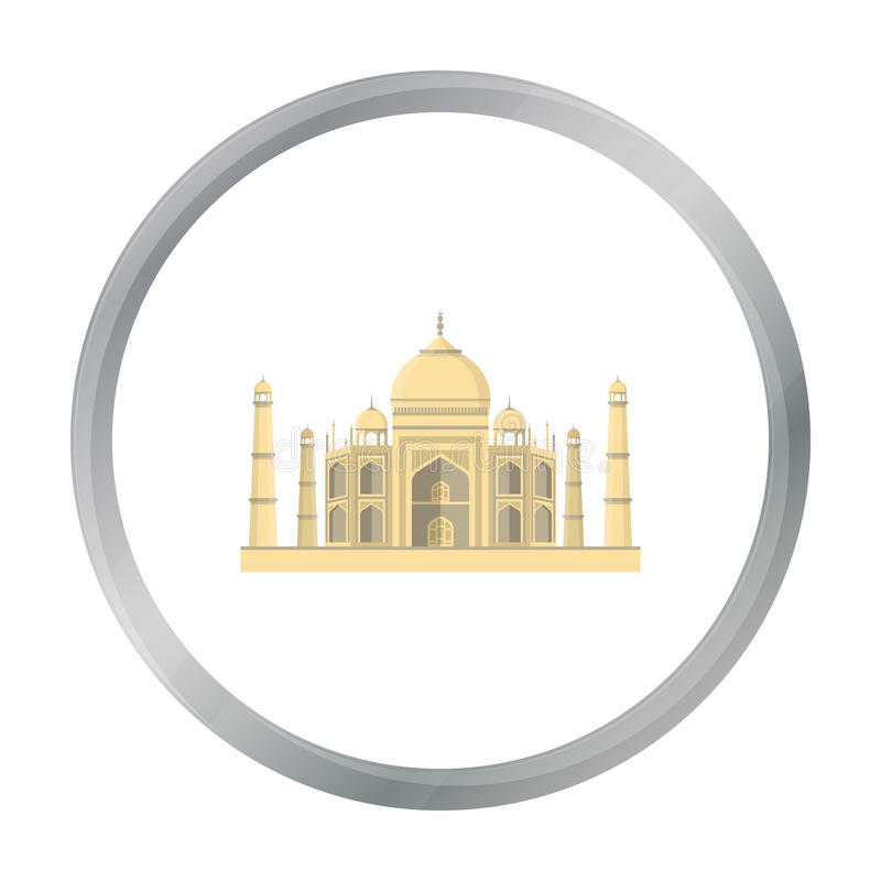 Taj Mahal icon in cartoon style isolated on white background. India symbol stock vector illustration. vector illustration