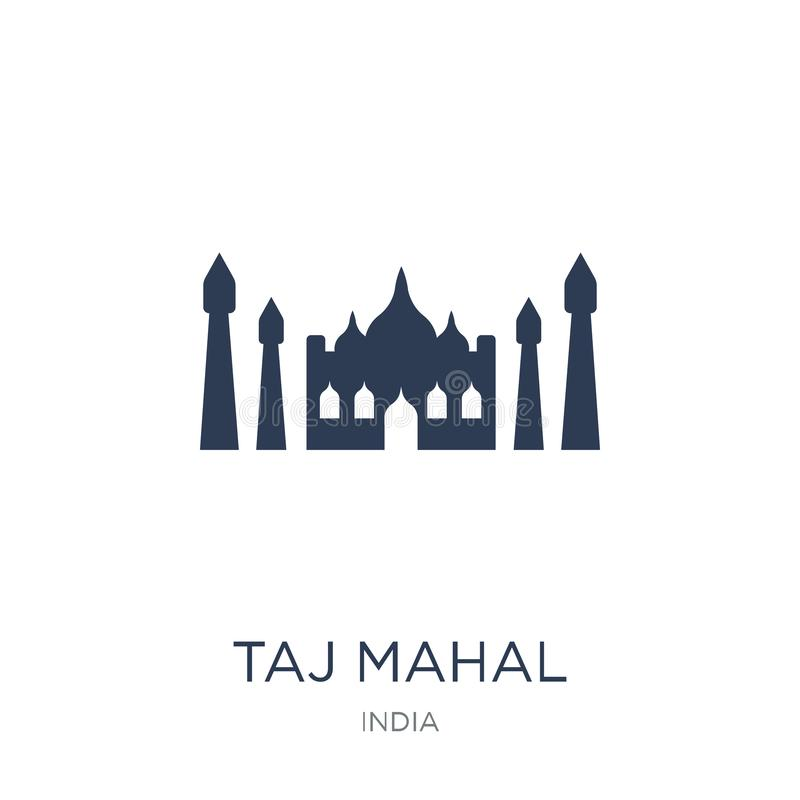 Taj mahal icon. Trendy flat vector Taj mahal icon on white background from india collection. Vector illustration can be use for web and mobile, eps10 vector illustration