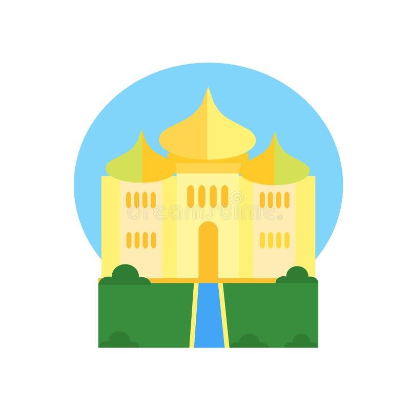 Taj Mahal Ikonenvektorzeichen und -symbol lokalisiert auf weißem backgrou stock abbildung