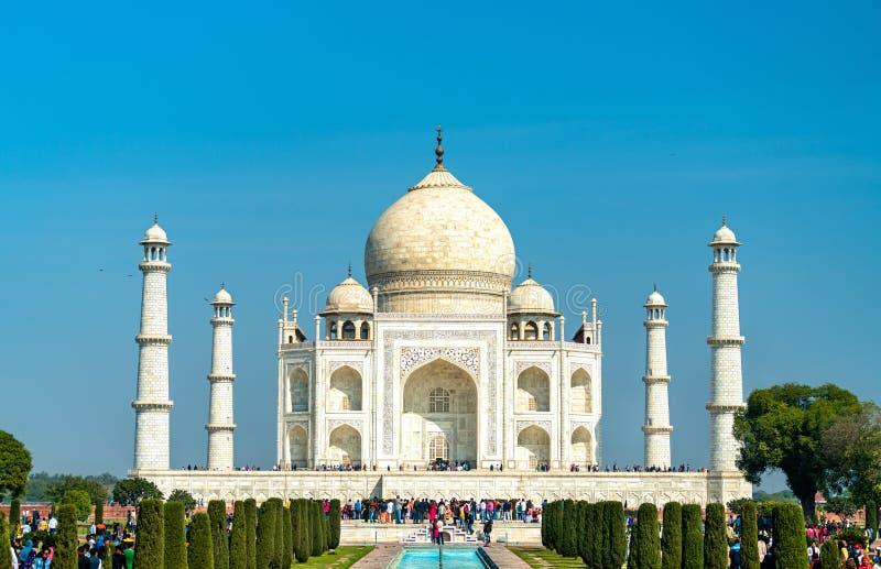 Taj Mahal, il monumento più famoso dell'India Agra - Uttar Pradesh fotografia stock libera da diritti