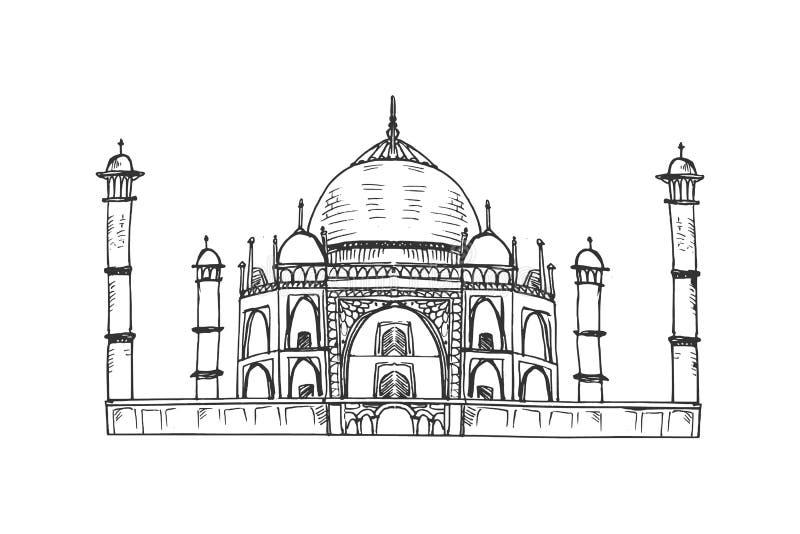 Taj Mahal illustration royalty free illustration