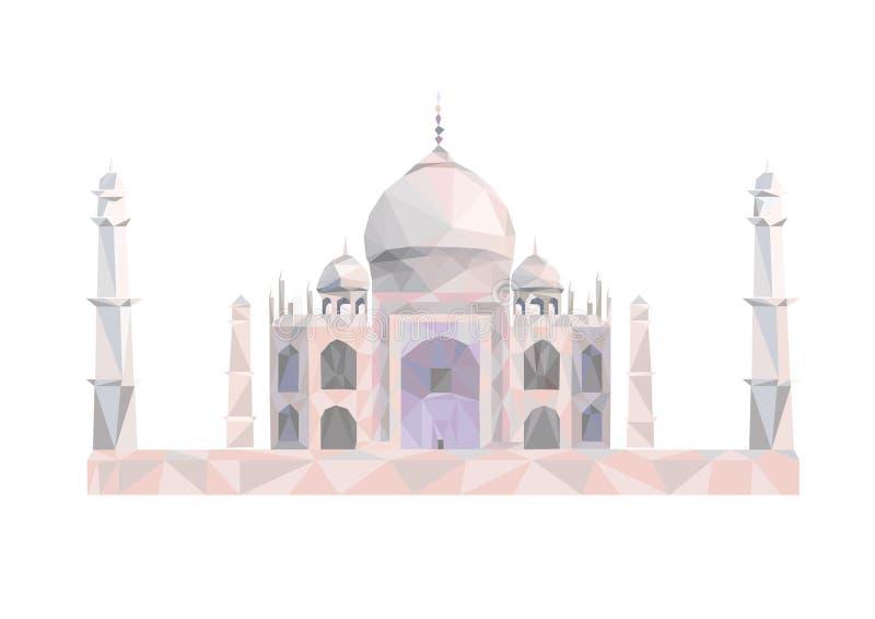 Taj Mahal, illustrazione dell'India Illustrazione isolata sulla a illustrazione di stock