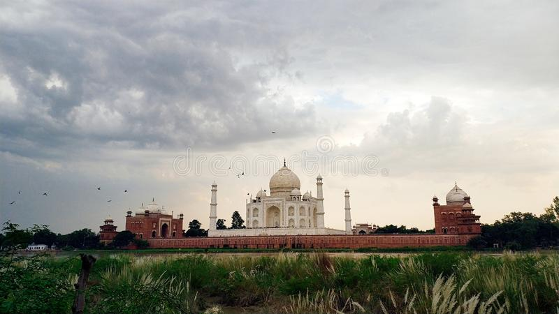 The Taj mahal. An immense mausoleum of white marble, built in Agra between 1631 and 1648 by order of the Mughal emperor Shah Jahan in memory of his favourite royalty free stock image