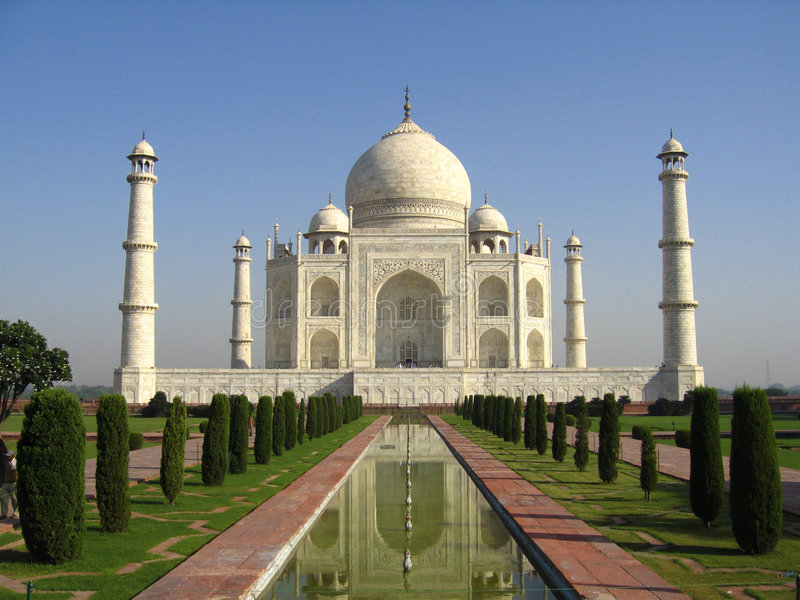 Taj Mahal India stock afbeelding