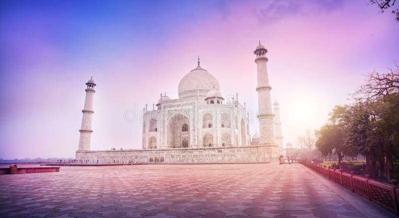 Taj Mahal in India stock afbeeldingen