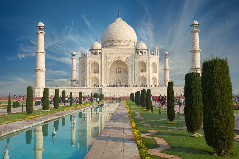 Taj Mahal India, Agra wereld 7 is benieuwd Mooie Tajmahal trave royalty-vrije stock afbeelding