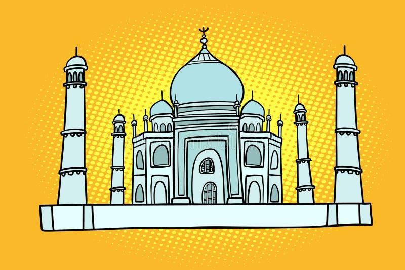 Taj Mahal India Azië Reis en toerisme royalty-vrije illustratie