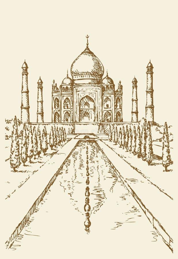 Taj Mahal in India EPS 10 stock illustratie