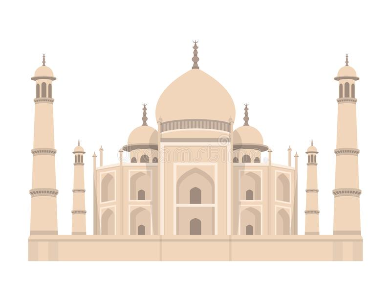 Taj mahal India vector design illustration. Concept art. Beautiful lanscape vector design illustration of Taj Mahal India vector illustration