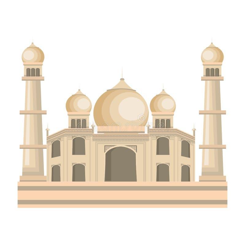 Taj mahal Indien byggnad vektor illustrationer