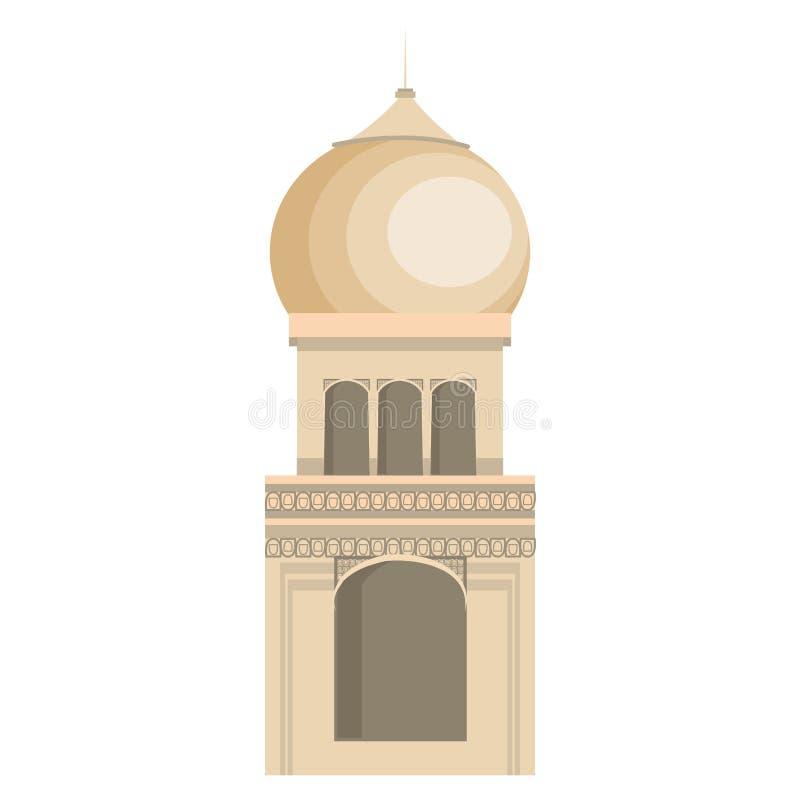 Taj mahal Indien byggnad royaltyfri illustrationer