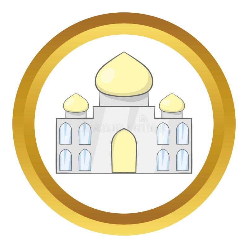 Taj Mahal Indien vektorsymbol royaltyfri illustrationer