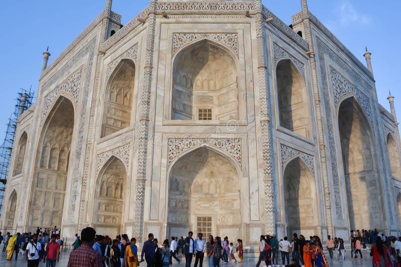 Taj Mahal Inlay Work Agra, Índia foto de stock royalty free