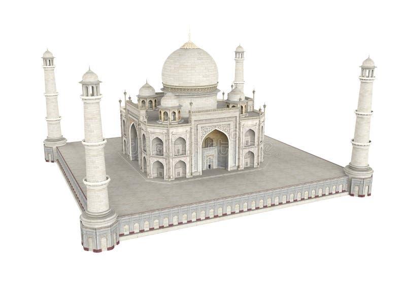 Taj Mahal Isolated stock abbildung