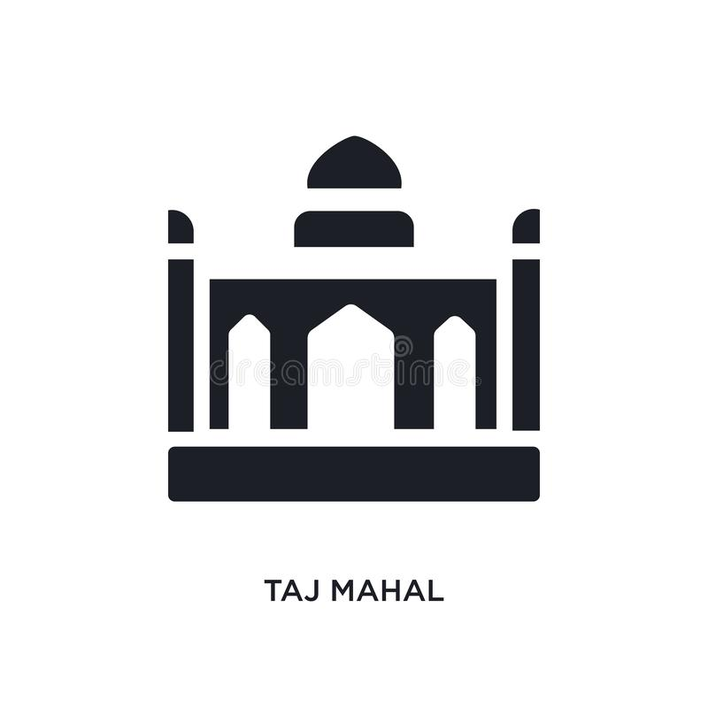 taj mahal isolated icon. simple element illustration from india and holi concept icons. taj mahal editable logo sign symbol design stock illustration