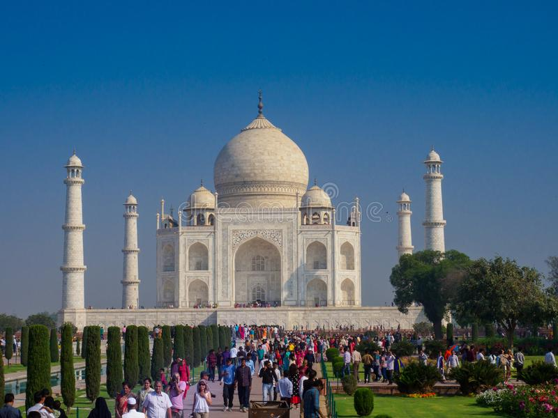 Taj Mahal, jeden Światowy ` s Zastanawia się i legenda wiecznie miłość cesarz i jego królowa zdjęcie stock