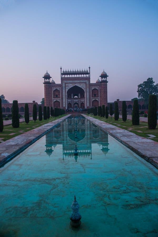 Taj Mahal-Komplex Agra lizenzfreie stockbilder