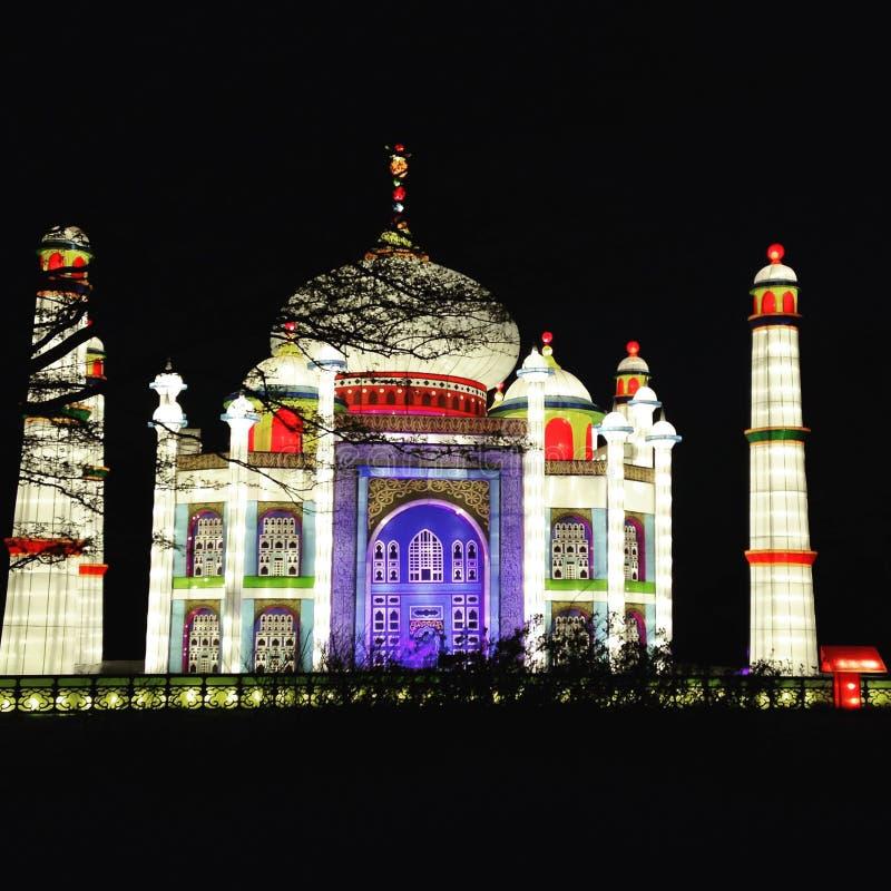 Taj Mahal Lantern Asia stock photos