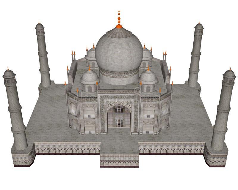 Taj Mahal-Mausoleum - 3D übertragen stock abbildung