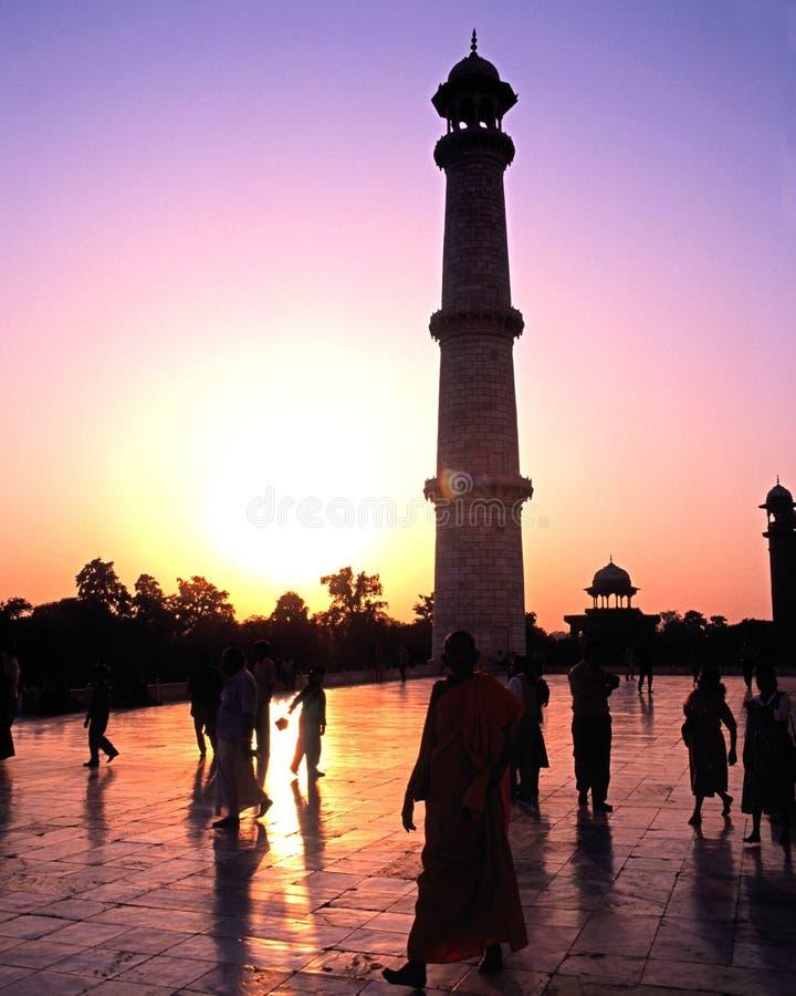 Taj Mahal minaret, Agra fotografia royalty free