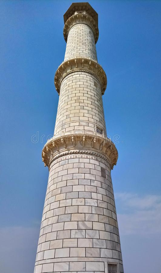 Taj Mahal Minarett lizenzfreies stockfoto