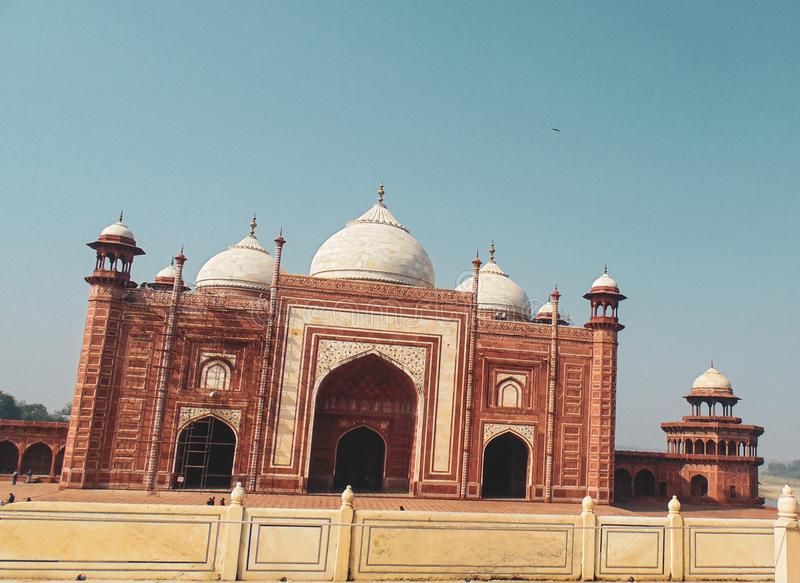 Taj Mahal Moschee in Agra, Indien lizenzfreies stockbild