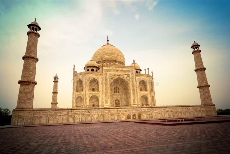 Taj Mahal na Índia de Agra fotos de stock royalty free