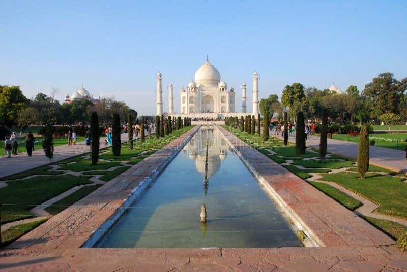 Taj Mahal na luz do nascer do sol, Agra, Índia imagens de stock